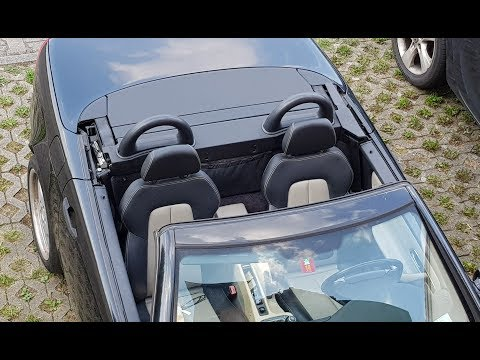 Mercedes SLK R 170 Variodach, Roof Opening With  Visible Mechanical Components