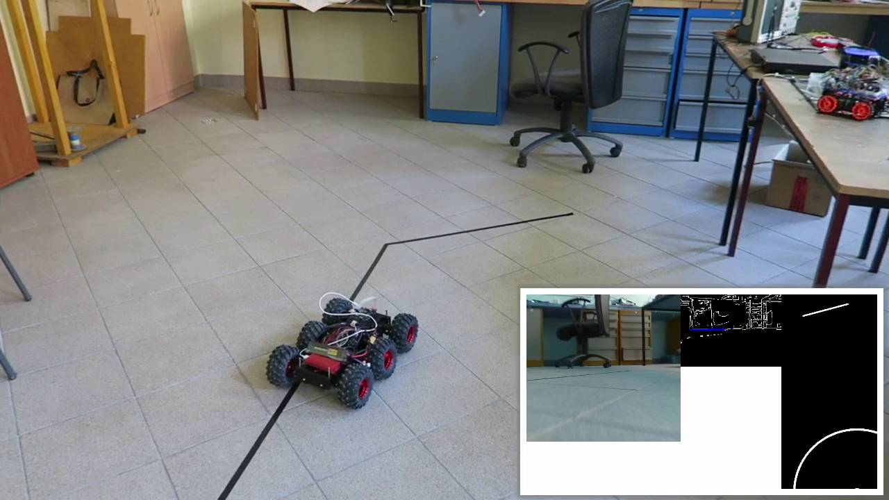 Line following robot car with raspberry pi arduino
