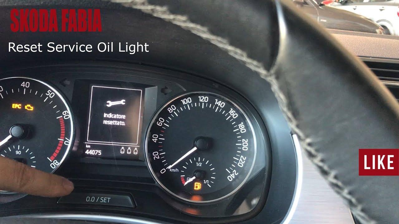 Skoda Fabia - Reset Service Oil Light