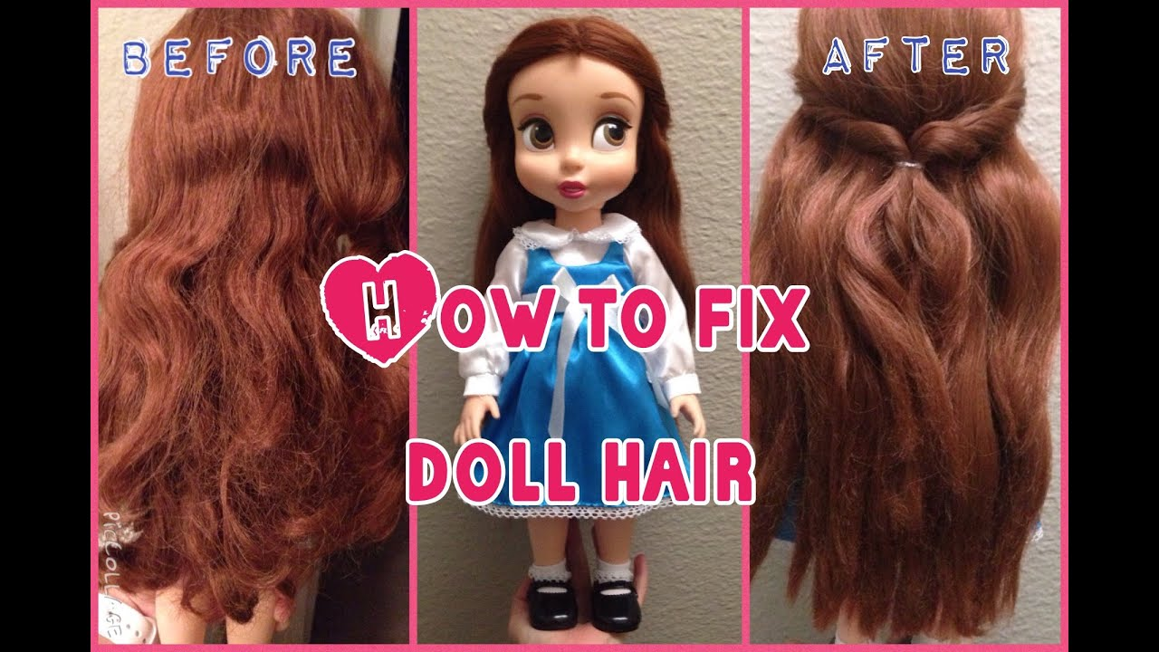 how to fix doll hair belle disney animated series youtube. Black Bedroom Furniture Sets. Home Design Ideas