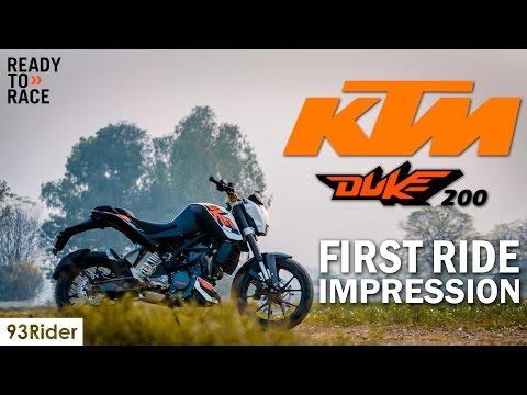 KTM Duke 200 | First Ride Impression | Short Review | 93Rider