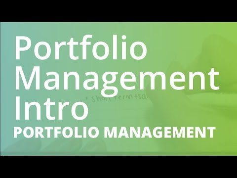 Introduction to Portfolio Management | Portfolio Management (FINC201)