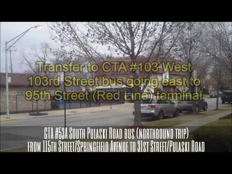 Cta 53a South Pulaski Road Bus Northbound Trip From