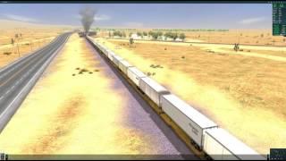 Trainz A New Era  - 4-8-4 Northern Steam Trailer on Flatcar Majave District