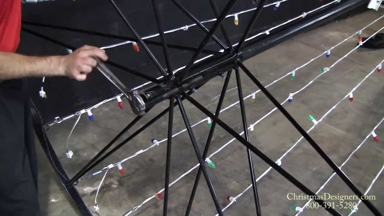 how to install a commercial christmas tree of lights