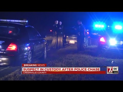 1 in custody after chase from Anderson Co. into Greenville Co.