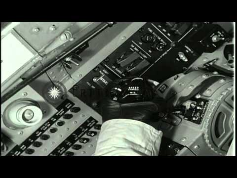 Emergency operating procedures including ejection and landing of the US Navy T2V-...HD Stock Footage