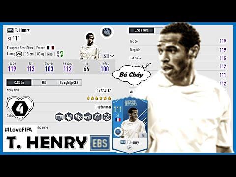 Trải Nghiệm Thierry Henry EBS +5 ( EUROPEAN BEST STARS ) Ngày Đầu Tiên Tại SERVER: BEST ST EBS