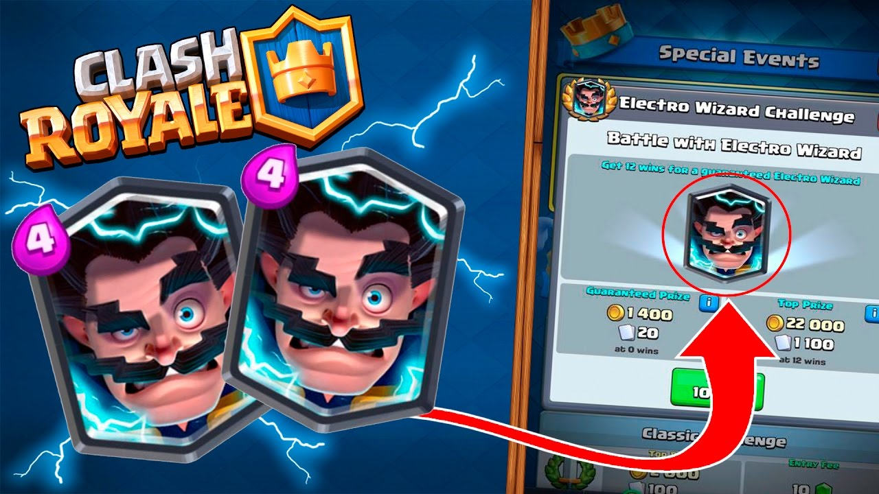 new electro wizard challenge gameplay clash royale how