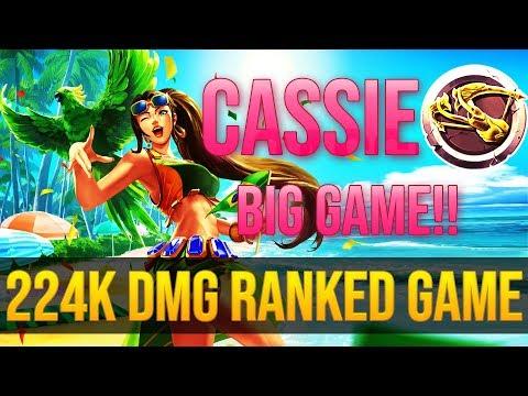 Pro Paladins l Cassie Ranked 224K DAMAGE!! [Grand Master MMR!]