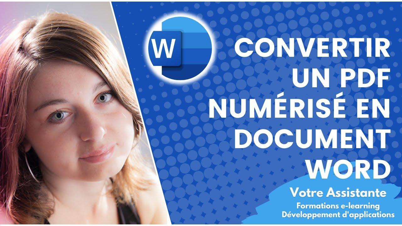 Comment Convertir Un Pdf Numérisé En Document Word