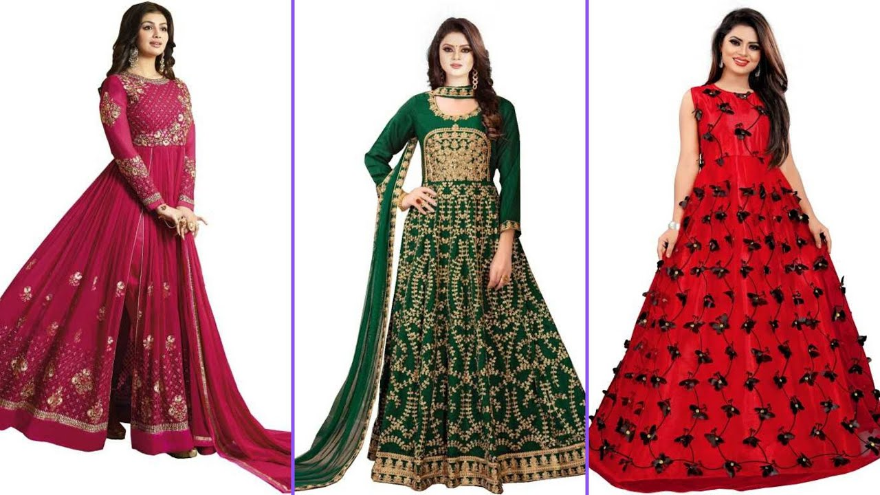 Stylish and tremendous collection of long dresses for women 2020-21