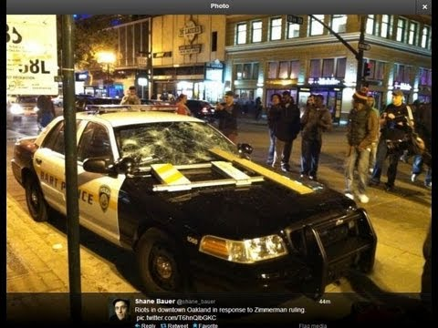 Riot Zimmerman Trial Police Car Destroyed Protests
