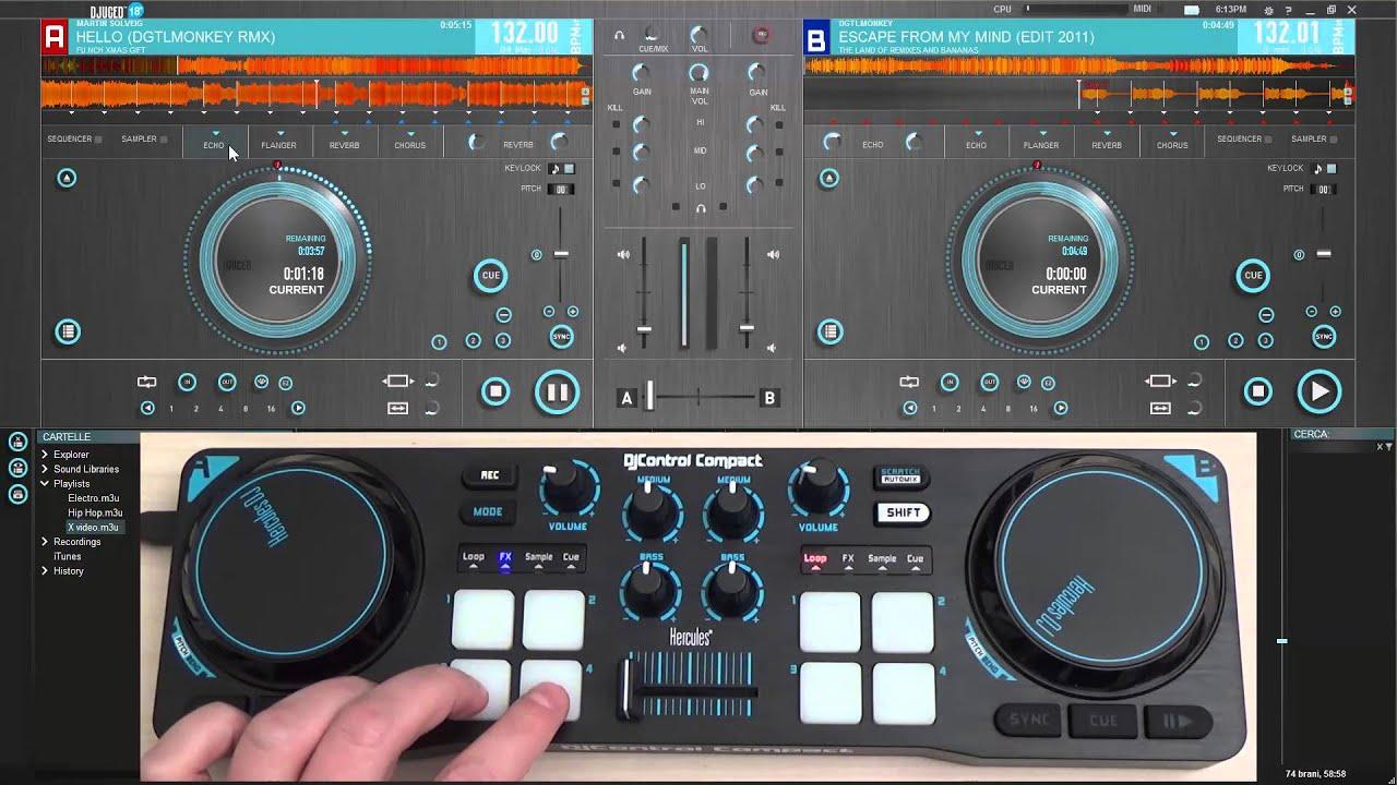 THE HERCULES DJ CONTROL COMPACT