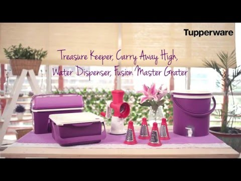 Tupperware Treasure Keeper, Carry Away High, Water Dispenser, Fusion Master Grater - SFA Mei 2016