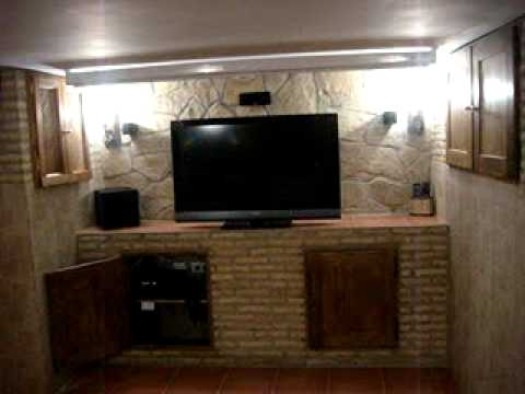 Mi sala de cine en casa ahora con proyector youtube - Sala de cine en casa ...