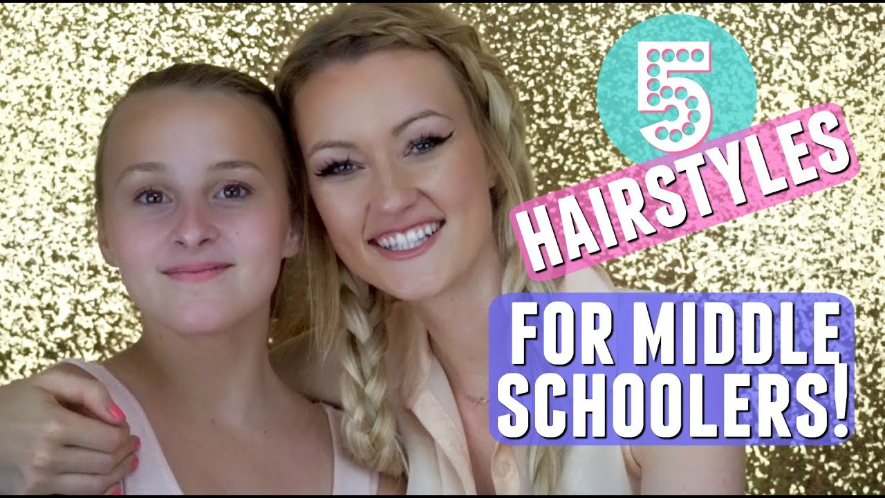 5 hairstyles for middle school! | makenna ashley