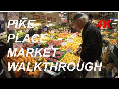 Seattle - Pike Place Market Walkthrough - 4K
