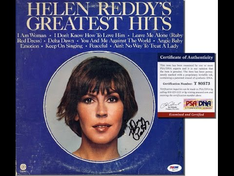 HELEN REDDY Hand Signed LP Cover - PSA/DNA - UACC RD#289