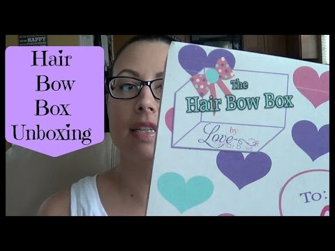 hair bow box unboxing