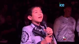 Niño mexicano interpreta himno de Estado Unidos Spurs de San Antonio contra Miami Heat