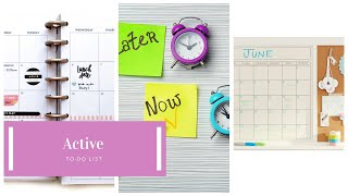 How to Create An Active To-Do List?