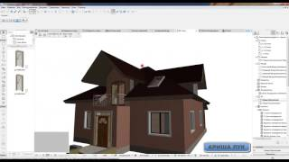 ARCHICAD  project home lessons 18. (Мансардные окна)