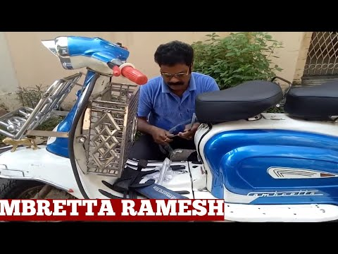 How To Make Motor Scooter Lambretta Front Luggage Carrier-Making Diy Lambretta Steel Luggage Carrier