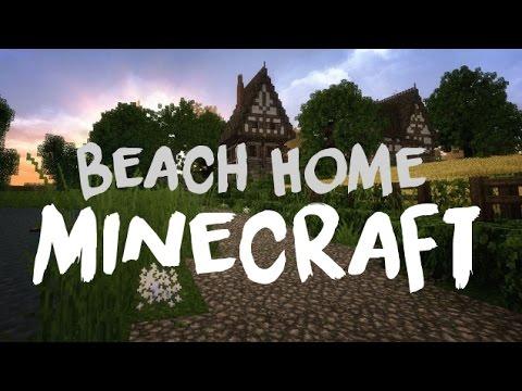 Modern Beachside Home - First Build [Minecraft]