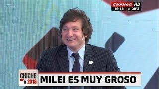 Javier Milei se gana el afecto de Crónica TV- 23/02/18