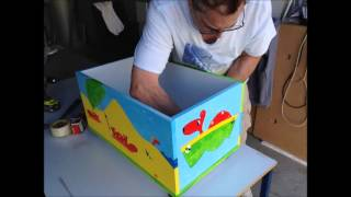 Milbie assembly video for the toy box and table