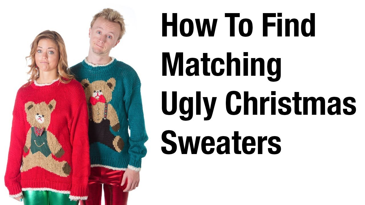 How to Find Matching Ugly Christmas Sweaters - YouTube