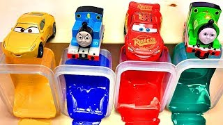 Disney Cars Lightning Mcqueen Toys, Learn Colors with Car Toys and Colorful Beads Toy for Kids