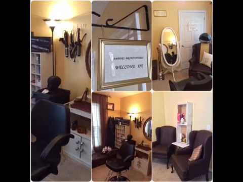diy home hair salon small space