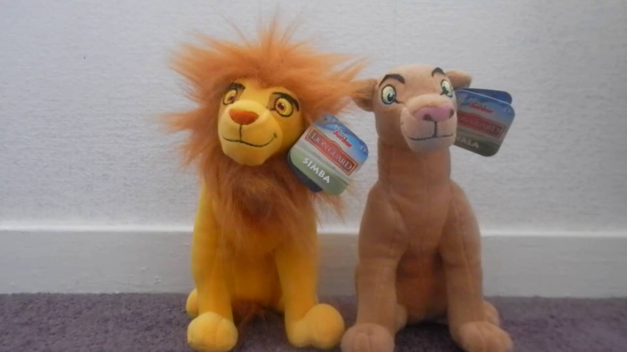 The Lion Guard Just Play Adult Simba And Nala Plush Review Youtube