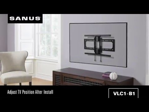 The Best Tv Wall Mount For Curved Tvs Sanus Swivel Mount Youtube