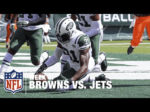 McCown hit leads to CB Antonio Cromartie Fumble Recovery in Endzone | Browns vs. Jets | NFL