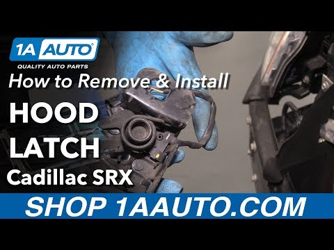 How to Remove Install Hood Latch 2013 Cadillac SRX