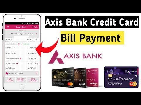 How To Pay Axis Bank Credit Card Bill | Axis Credit Card Bill Payment { Hindi }
