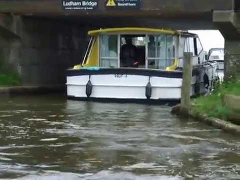Norfolk Broads: Ludham Bridge, Idiot With Boat Crashes
