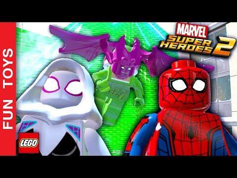 Homem-Aranha e Mulher-Aranha (Gwen-Aranha) Juntos em mais um Gameplay de Lego Marvel Super Heroes 2: Mulher-Aranha (Gwen-Aranha) e Homem-Aranha enfrentam o Abutre Clássico e o Duende Verde do Futuro neste gameplay IRADO de LEGO MARVEL Super Heroes 2!  Comente aí em baixo qual o personagem mais legal que você já viu no nossos vídeos de LEGO MARVEL Super Heroes 2!  Compre bonecos do jogo aqui: http://amzn.to/2ATMPIq  Não se esqueça de dar um JOINHA no vídeo, MOSTRAR este vídeo para seus amigos e parentes e de se INSCREVER no canal clicando neste link: http://bit.ly/FunToysVideos  Já terminamos TODAS as missões do playset do Homem Aranha, para ver a série completa desde o início, clique neste link: http://bit.ly/SpiderManDI  Já jogamos TODAS as fases da série dos Vingadores, se quiser ver os gameplays destas fases desde o início, veja aqui: http://bit.ly/DisneyInfinityFT  ✦Inscreva-se: http://bit.ly/FunToysVideos ✦Twitter: https://twitter.com/FunToysBrinque ✦Google+: https://goo.gl/QVmgp0 ✦Instagram: https://instagram.com/fun_toys_brinquedos/ ✦Blog: http://festadeideias.com.br/Fun_Toys_Brinquedos/ ✦Facebook: http://bit.ly/FunToysFacebook  ✦VEJA ABAIXO outros vídeos legais: - Todos os Gameplays: https://www.youtube.com/watch?v=4DElElgNGB4&list=PL2edokDcUWHIZRjdi8d-Gj3NaBM8UWN8r  - Todos as Construções de Lego com Minecraft: https://www.youtube.com/playlist?list=PL2edokDcUWHLtdIVszqrE2C9BI1AmTrW9  - Todos de fazer com lápis papel e alguns com lego: https://www.youtube.com/playlist?list=PL2edokDcUWHLy2CKSSjocDGgMD5Y8lAXL  - Todos com Estorinhas com brinquedos: https://www.youtube.com/playlist?list=PL2edokDcUWHJqv9GlD0UFfNiqVfwFysv0  - Meus vídeos Favoritos: https://www.youtube.com/playlist?list=PL2edokDcUWHJkaMtTyWXEODq8703ra-Lu  - Todos os nossos vídeos de Star Wars: https://www.youtube.com/playlist?list=PL2edokDcUWHIbLmvKreS8ToGqLdvYgA8I  - Aqui você pode ver TODOS os vídeos: http://bit.ly/FunToysVideos  - Faça sua PRÓPRIA Pokebola com Lego ou no MINECRAFT - Pokemon Go: