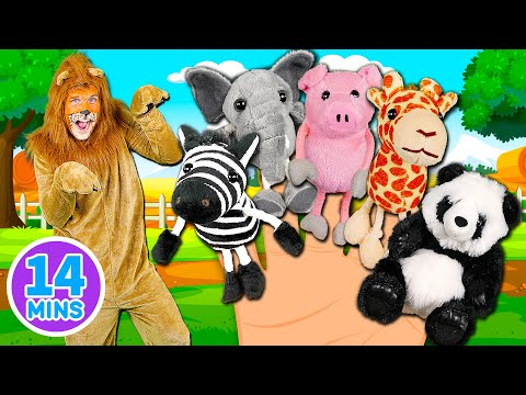 Thumbnail: Animals Finger Family Song - Mega Finger Family Collection Part 2! Learn to count with the animals