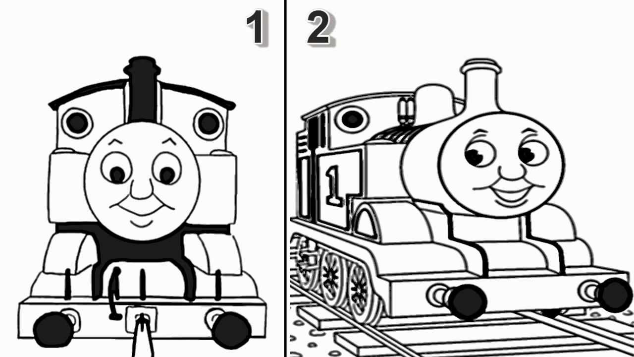 How To Draw Thomas The Train Engine From Thomas And Friends Cartoon