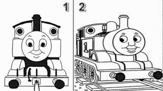 How to Draw Thomas The Train Engine from Thomas and Friends Cartoon Series - Video