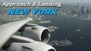 X-Plane 11 -  APPROACH & LANDING 🗽 NEW YORK