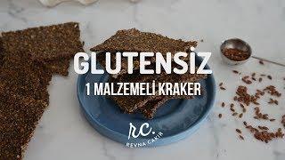 Sindirime Yardımcı 1 Malzemeden Glutensiz Kraker I Ketojenik& Vegan Keten Tohumlu Pratik Kraker