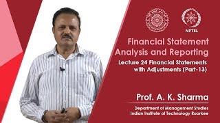 Lecture-24- Financial Statements with Adjustments (Part-13)