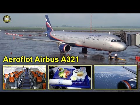 Aeroflot Airbus A321 Business Class Yekaterinburg to Moscow SVO [AirClips full flight series]