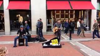 "Grafton St, Dublin 2, Ireland. Great Cover of ""Passenger - Let Her Go"""