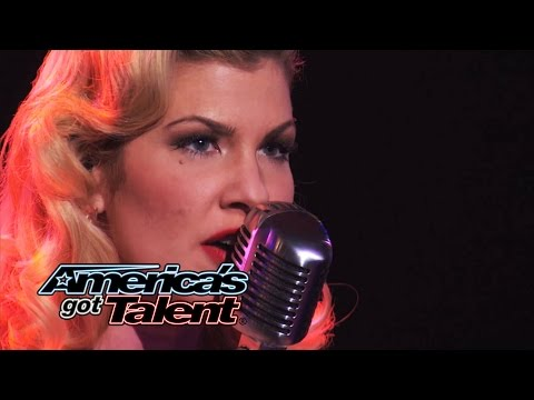 "Emily West: Sultry Songstress Performs ""Chandelier"" Cover - America's Got Talent 2014"